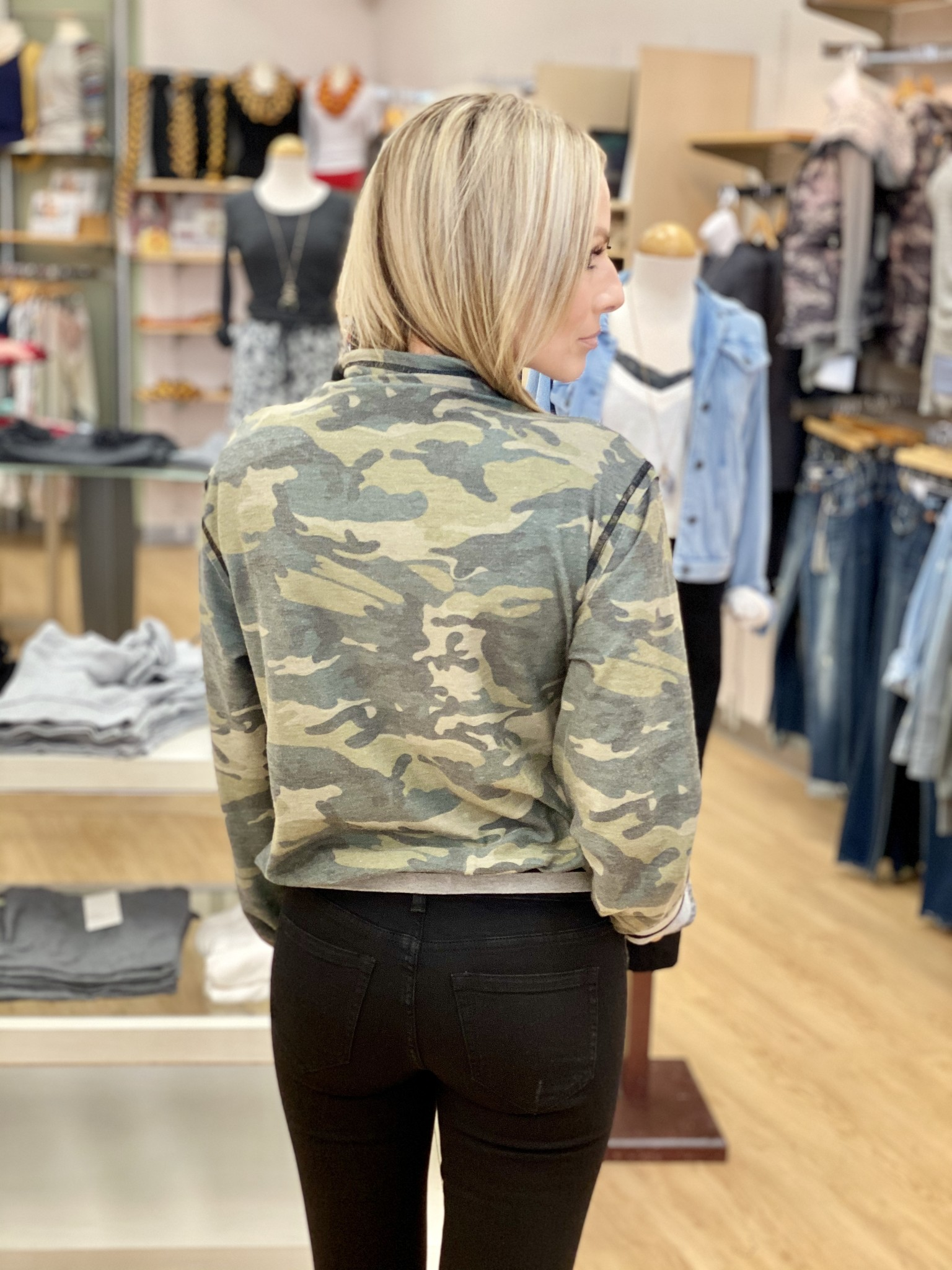 Fate & Fortune March On Camo Bomber