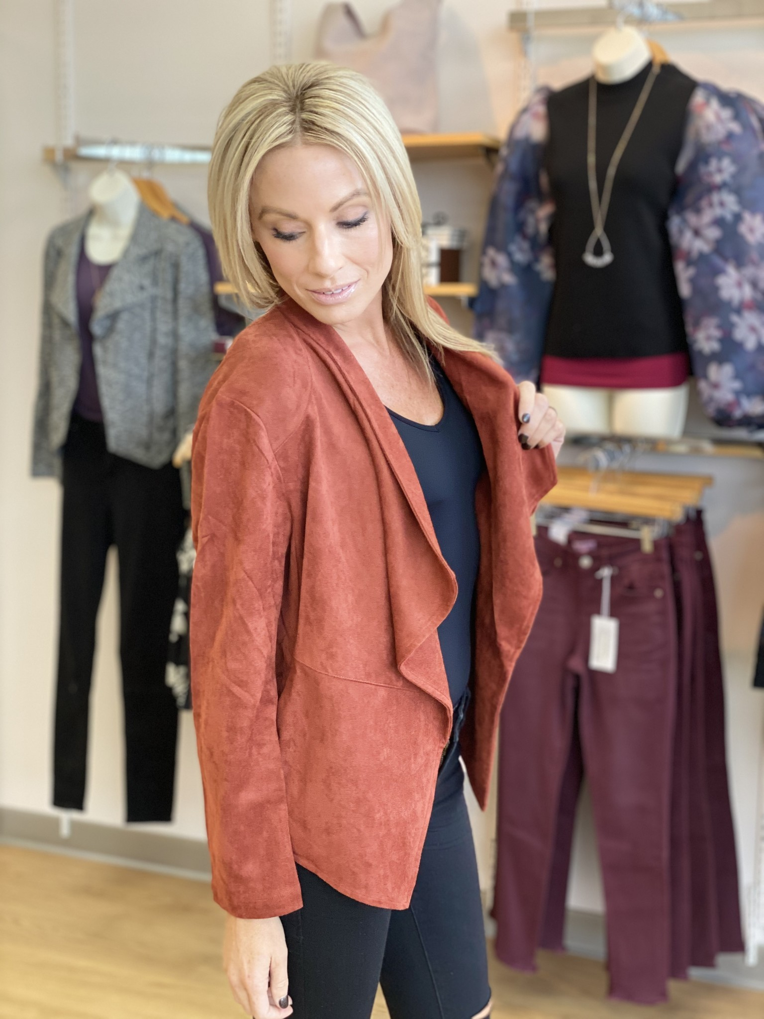 Fate & Fortune Suede Waterfall Jacket
