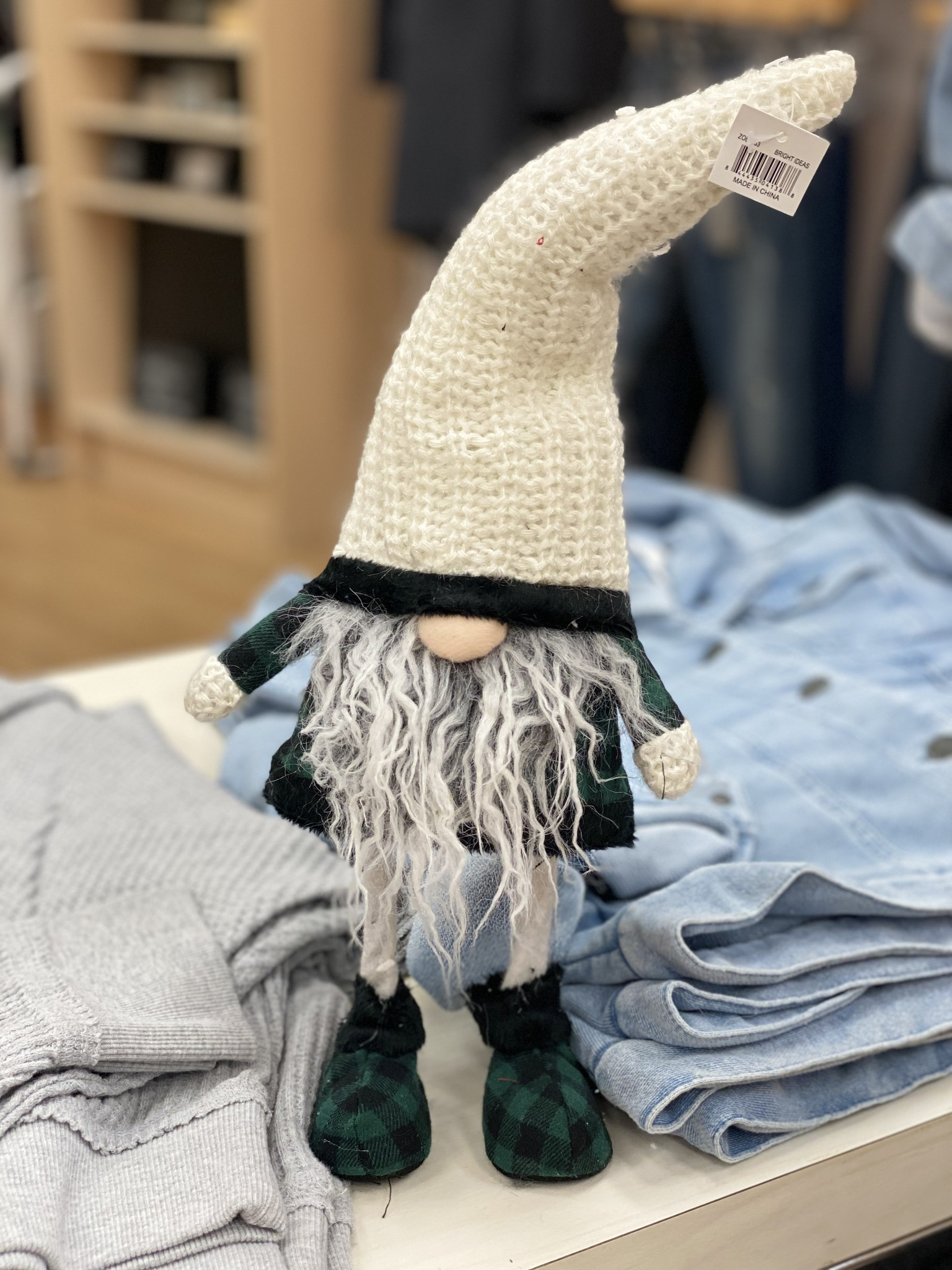 Bright Ideas Plaid Wobble Gnome 16 in - Assorted Colors