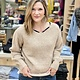 Hem & Thread Lace Up Back Cozy Sweater