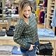 Hem & Thread Teal/Lime Textured Sweater