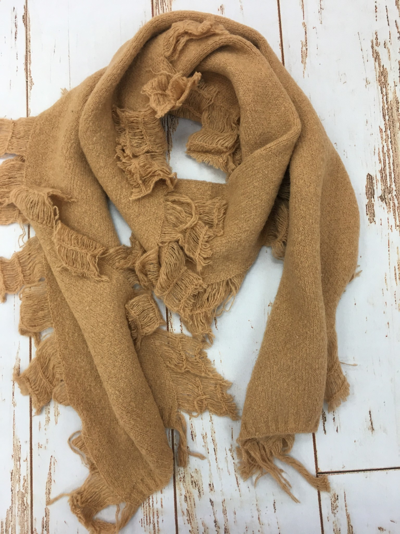 Lou & Co Tan Oblong Scarf