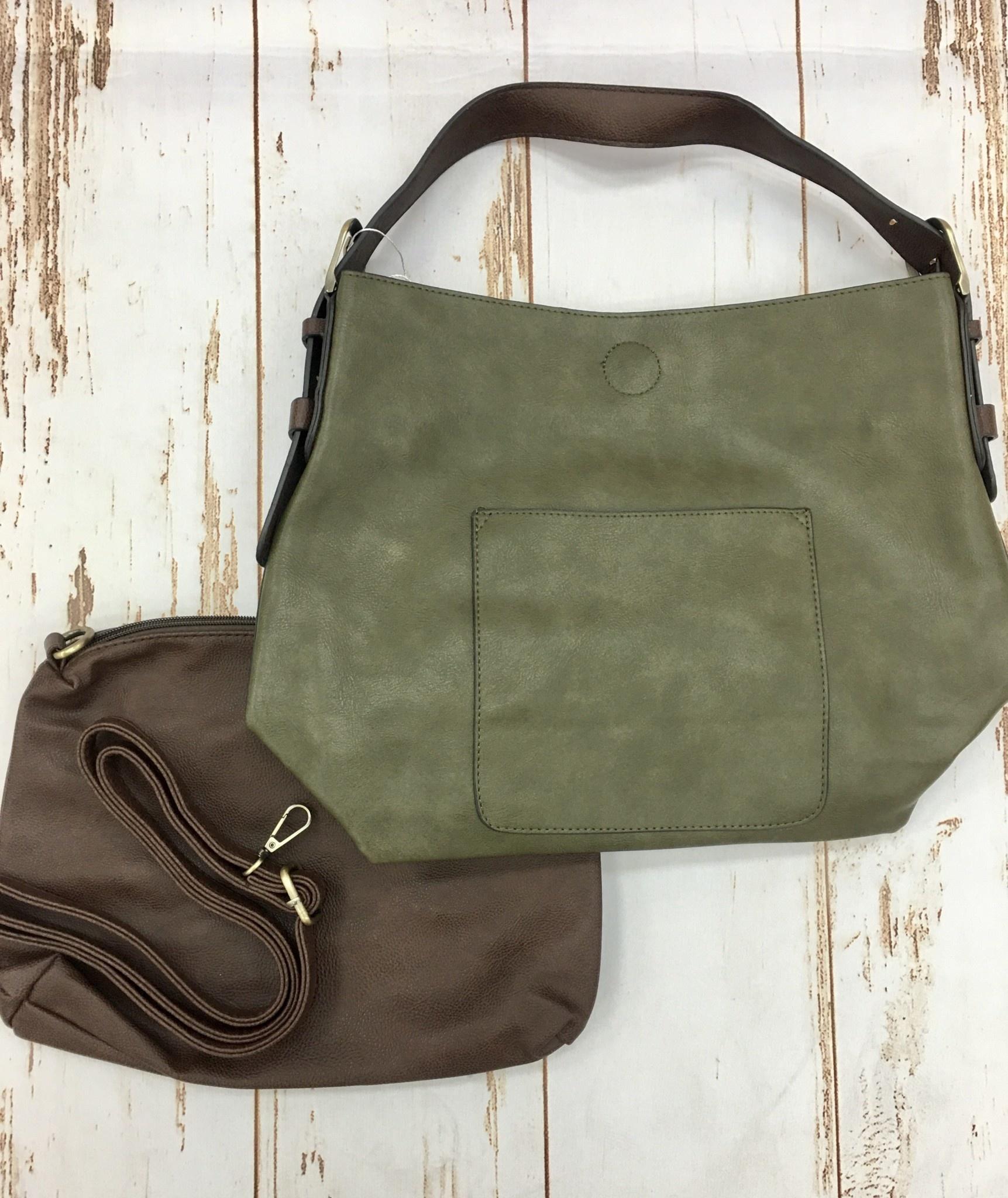 Joy Accessories Dark Olive Hobo Bag