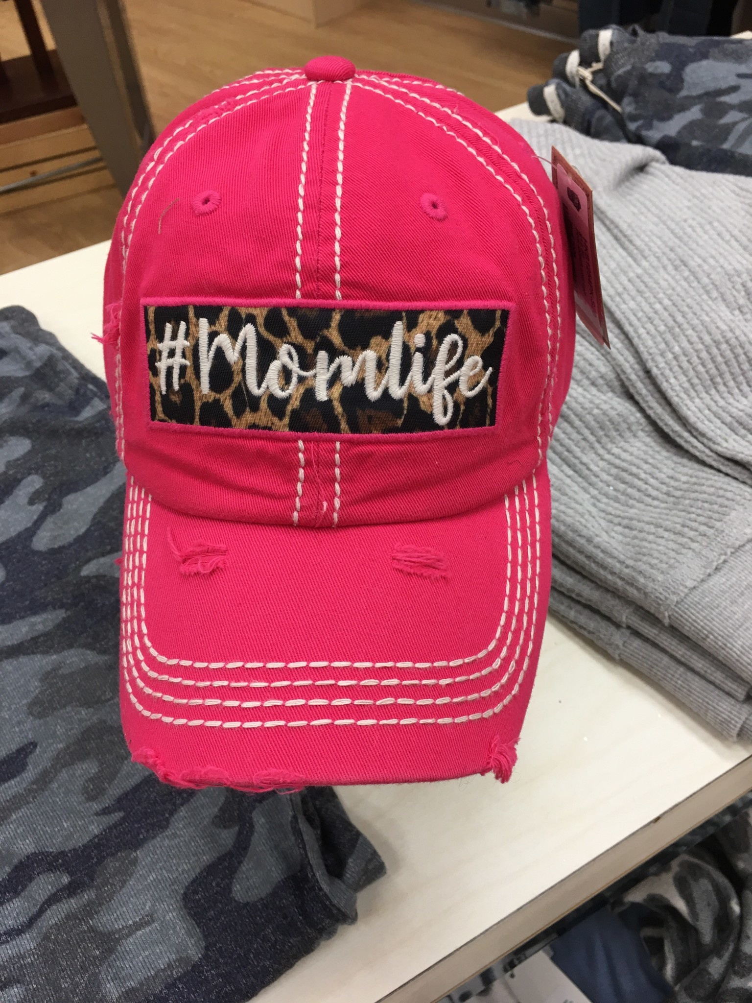 #momlife hat