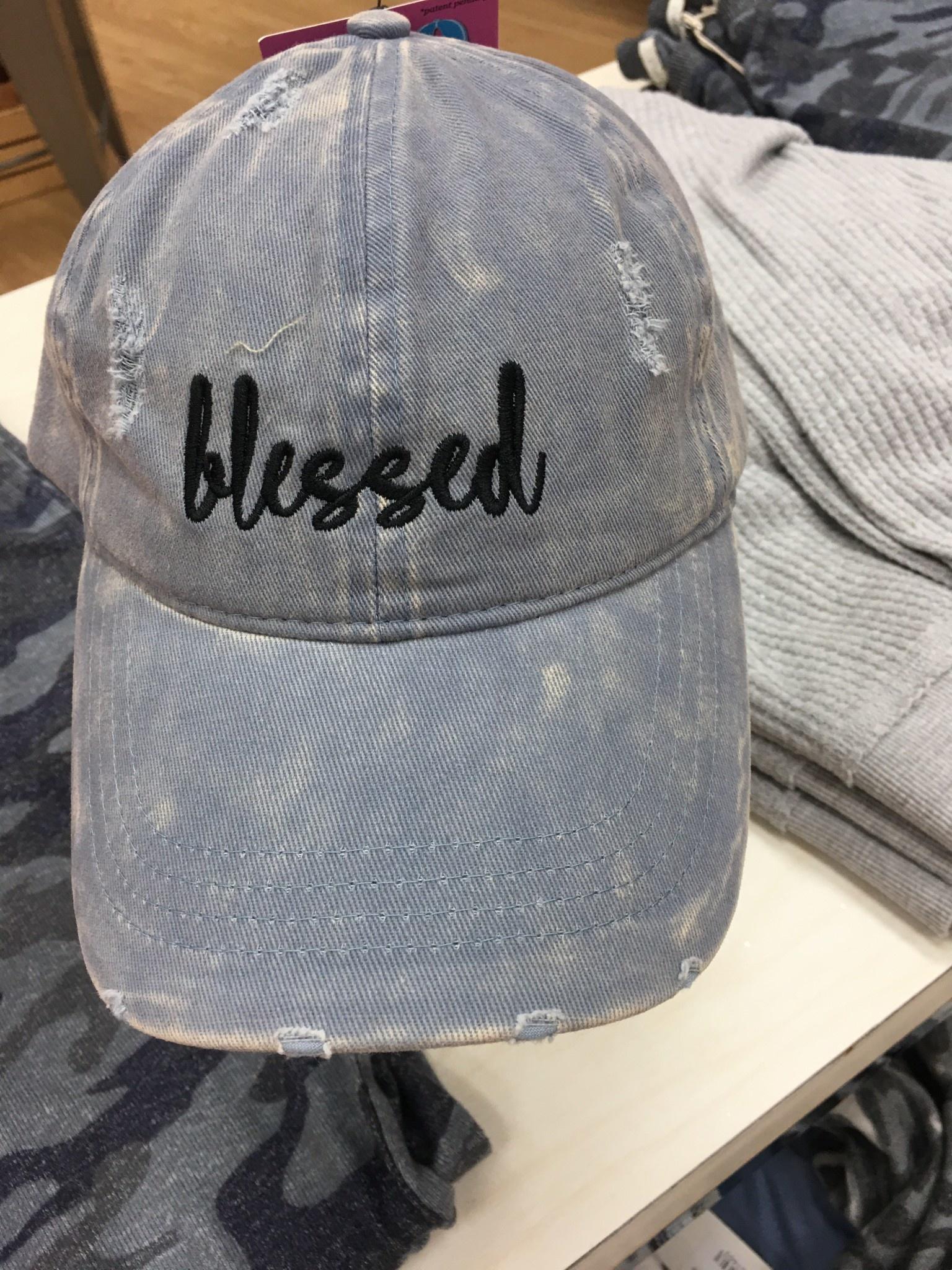 Blessed in Light Denim Hat
