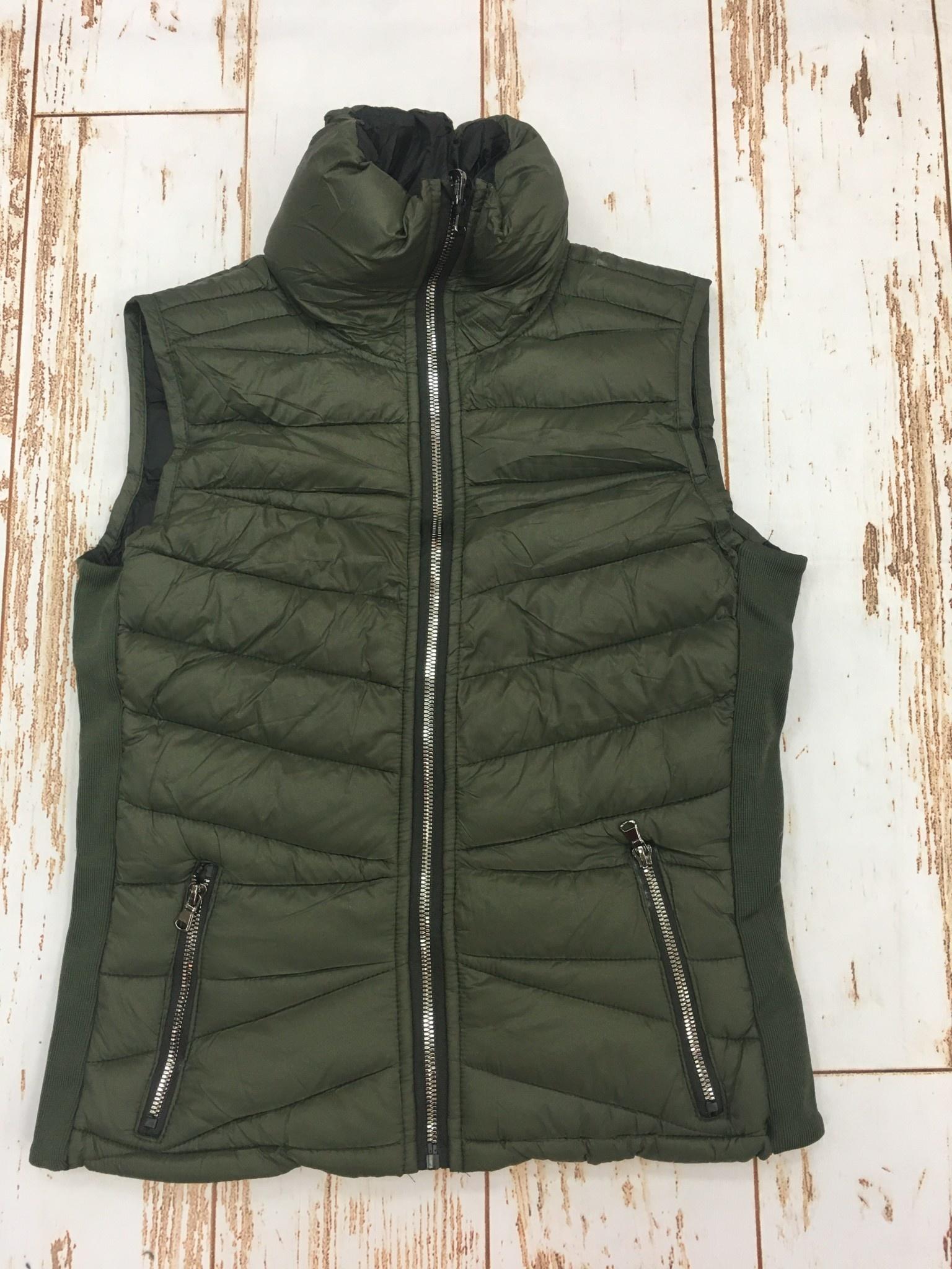 Ashley Clothing Reversible Olive/Black Vest