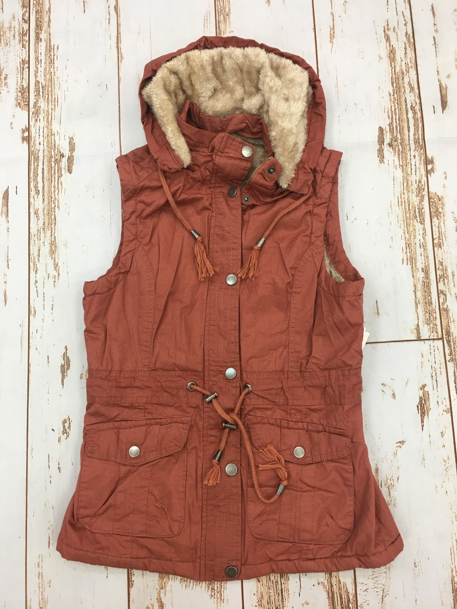 Ashley Clothing Rust Furry On The Inside Vest