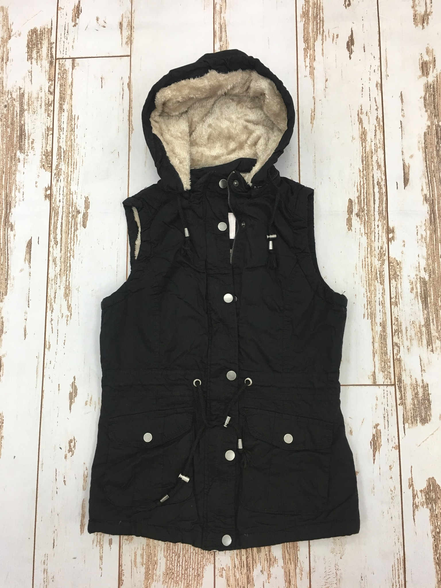 Ashley Clothing Black Furry On The Inside Vest