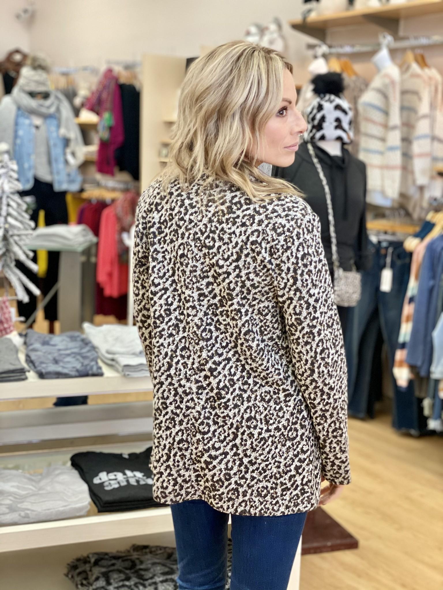 Dex Leopard Open Jacket