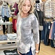 Ariella Tie Dye Grey Tunic 3/4 Sleeve