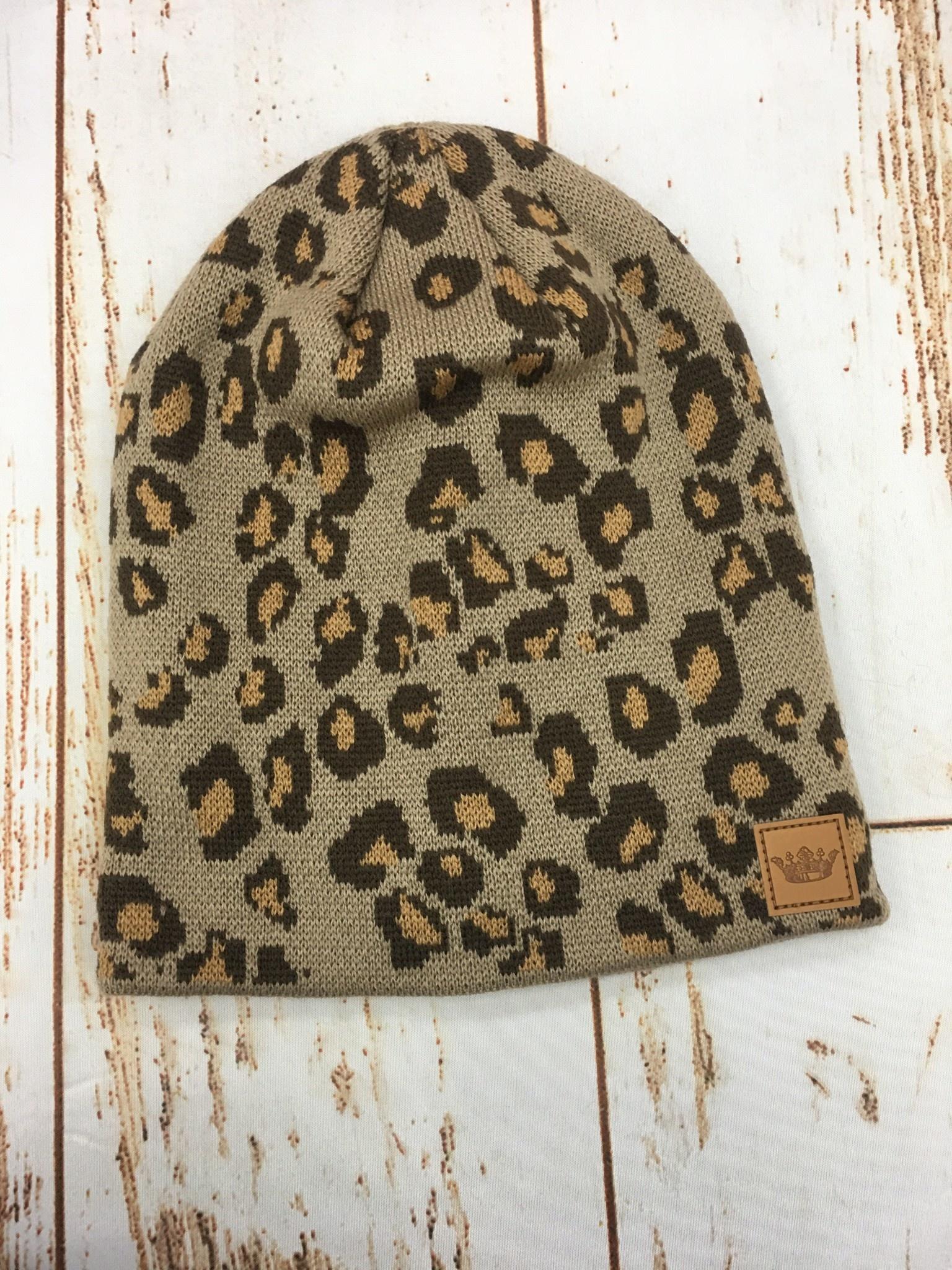 Panache Leopard Beanie