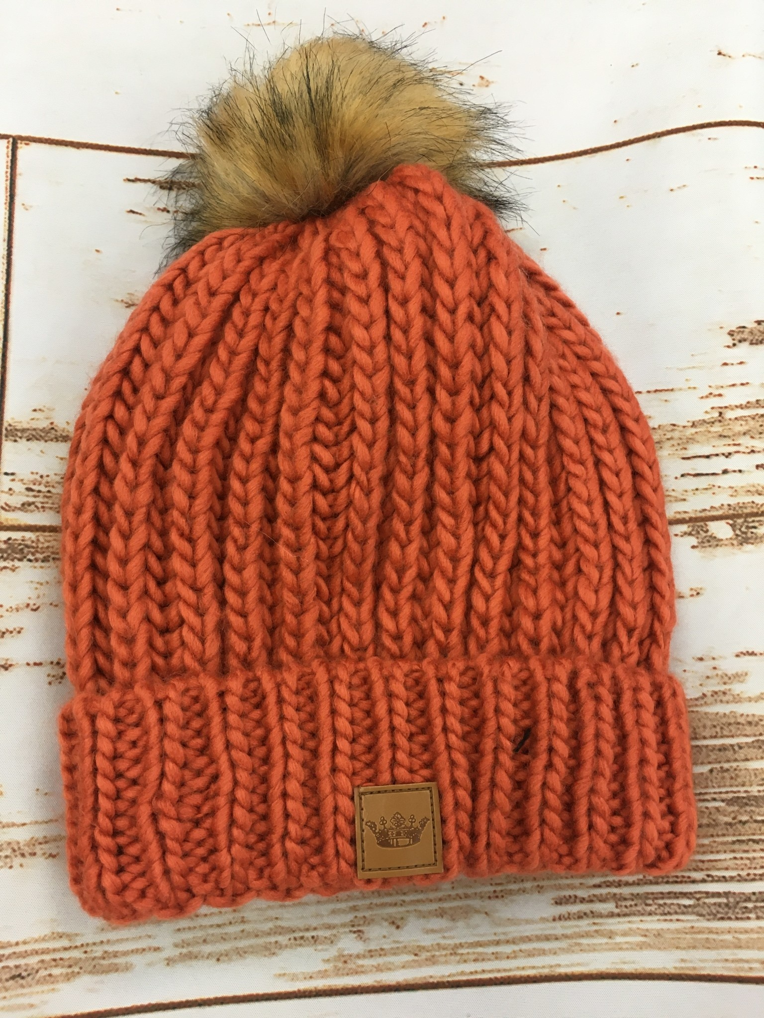 Panache Burnt Orange Pom Beanie