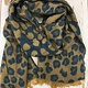 Lou & Co Leopard Print Scarf in Navy