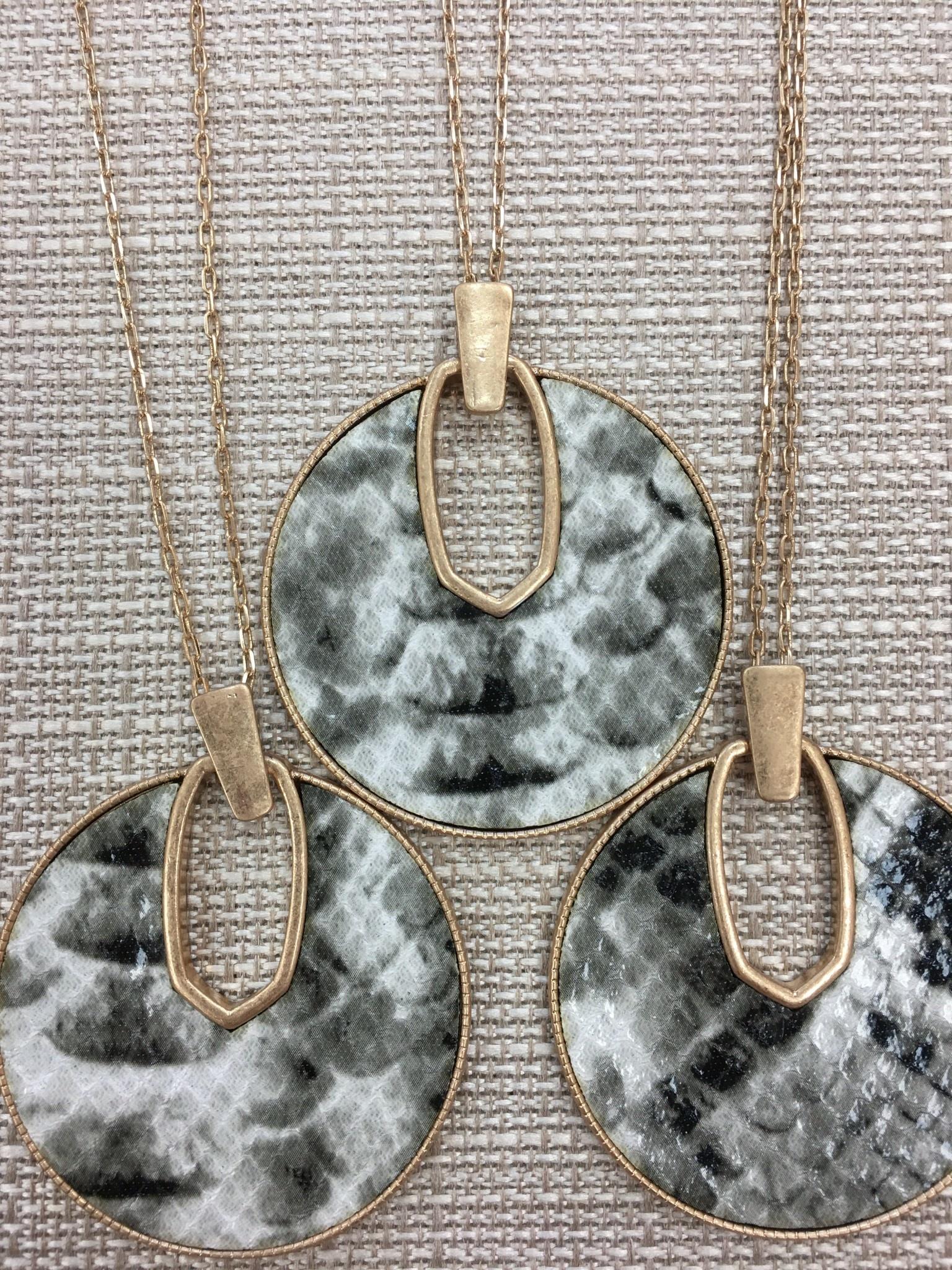 Python Circle Pendant Necklace
