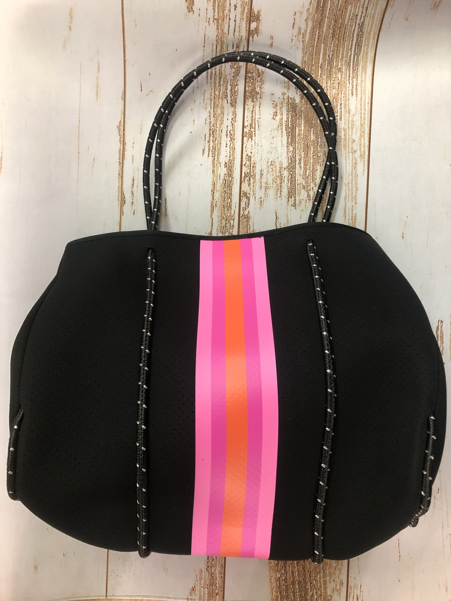 Haute Shore Ltd Greyson Tote - Rave - Black pink/orange stripe