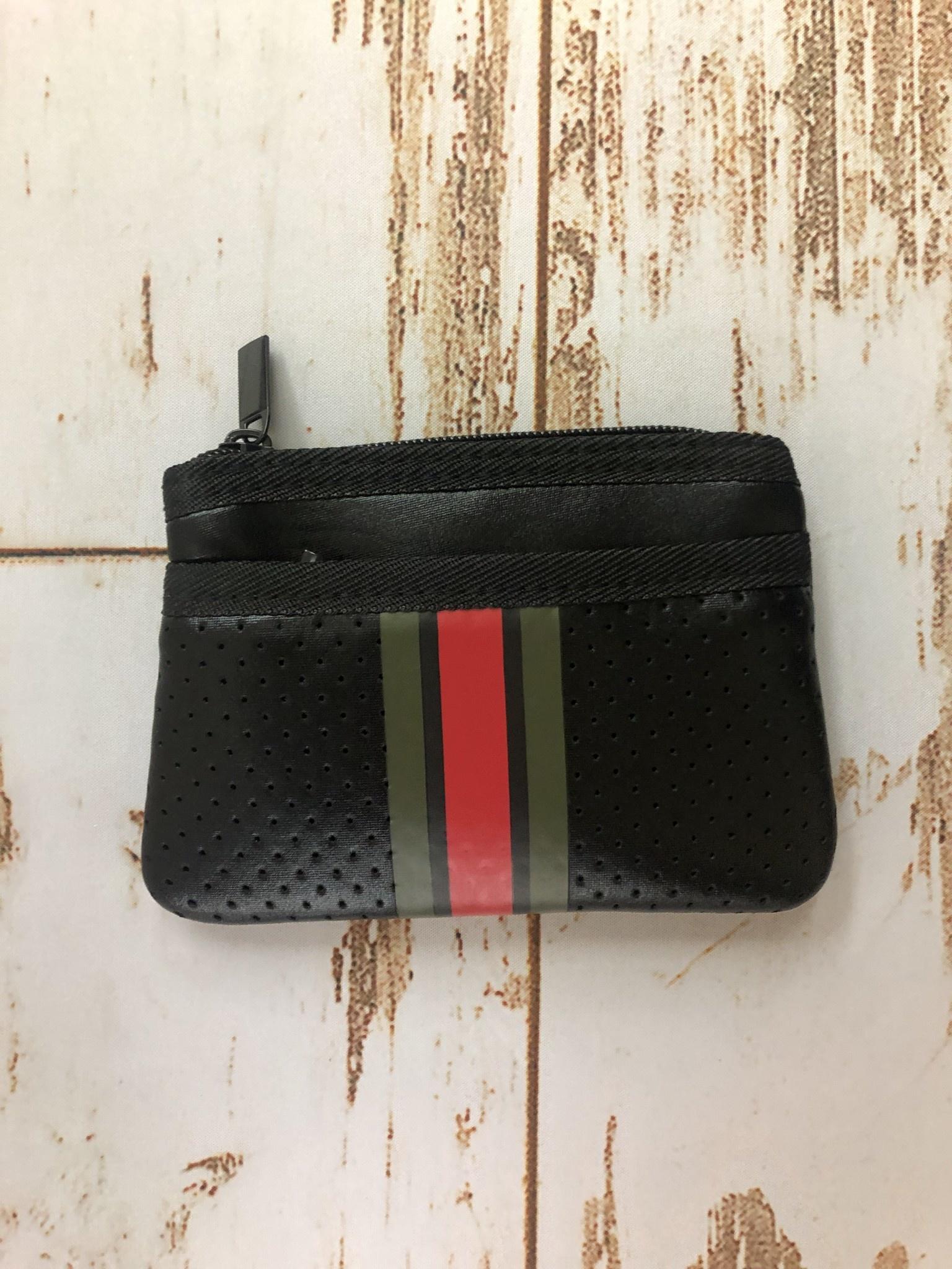 Haute Shore Ltd Max Card Case Bello Black Army/Black/Red Army Stripe