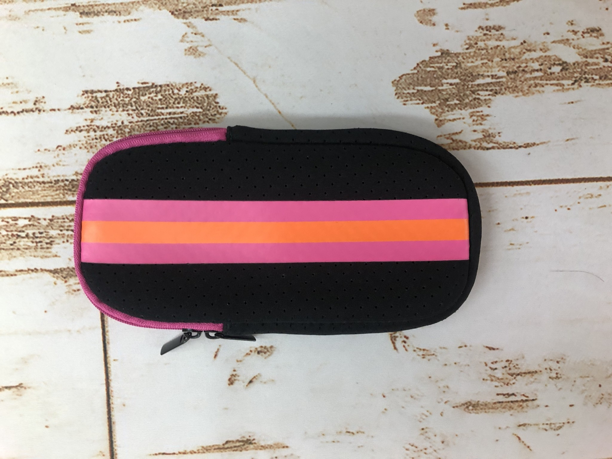 Haute Shore Ltd Ev Glasses Case -Rave Black Pink Orange Stripe