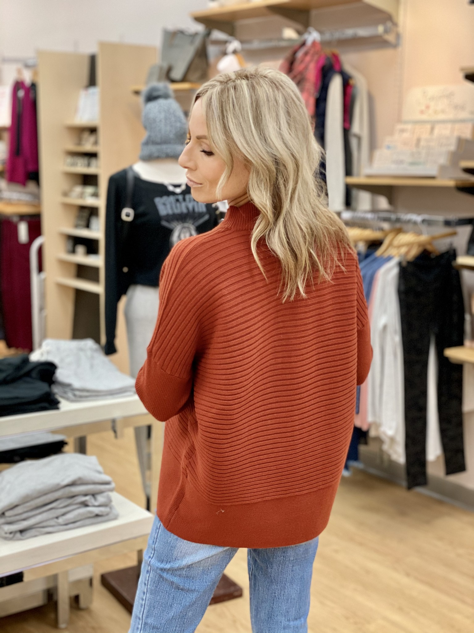 Dex Paprika Drop Shoulder Sweater