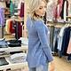 Aryeh Asymmetrical Denim Blue Knit Top