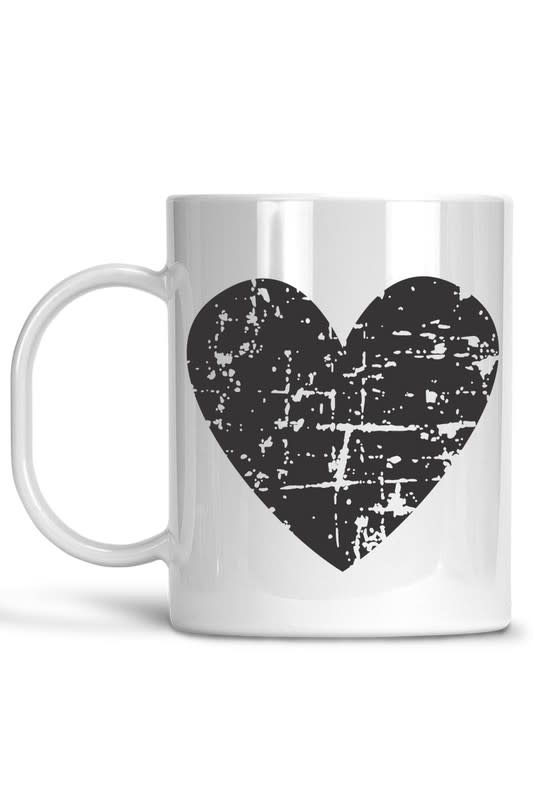 Matty + Lux Black Heart Ceramic Mug
