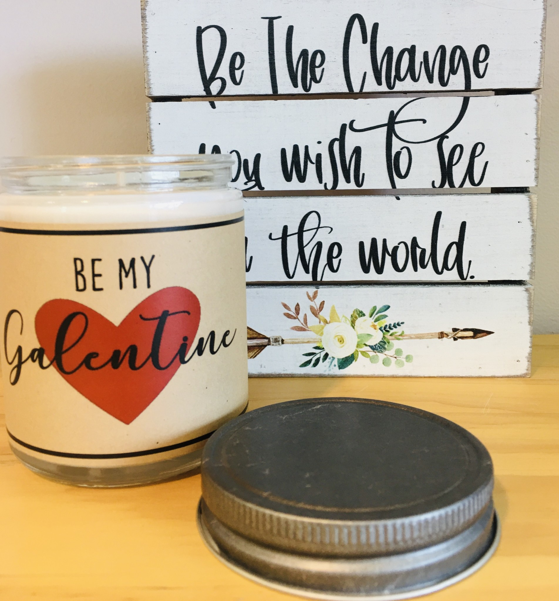 Hello You Candles Be My Galentine Bouquet of Flowers Scented Candle