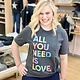 Kissed Apparel All You Need is Love Graphic Tee