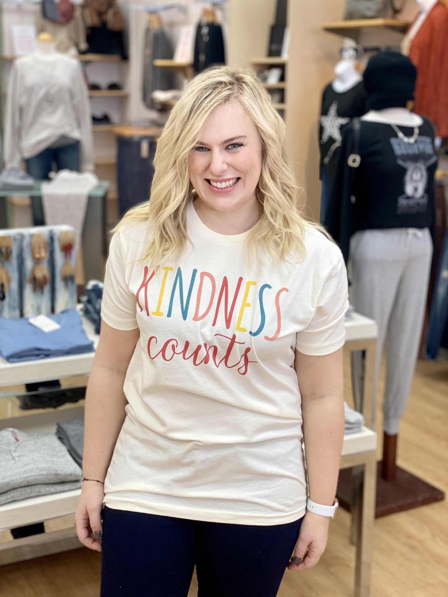 Kissed Apparel Kindness Counts Graphic Tee