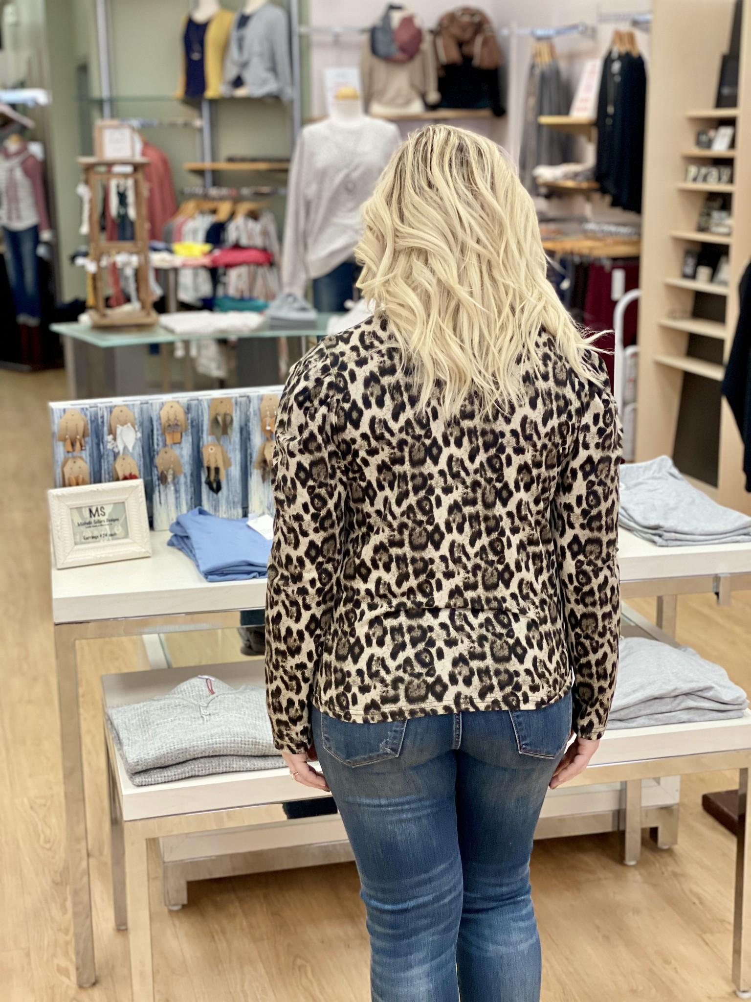Fate & Fortune Leopard Animal Instinct Top