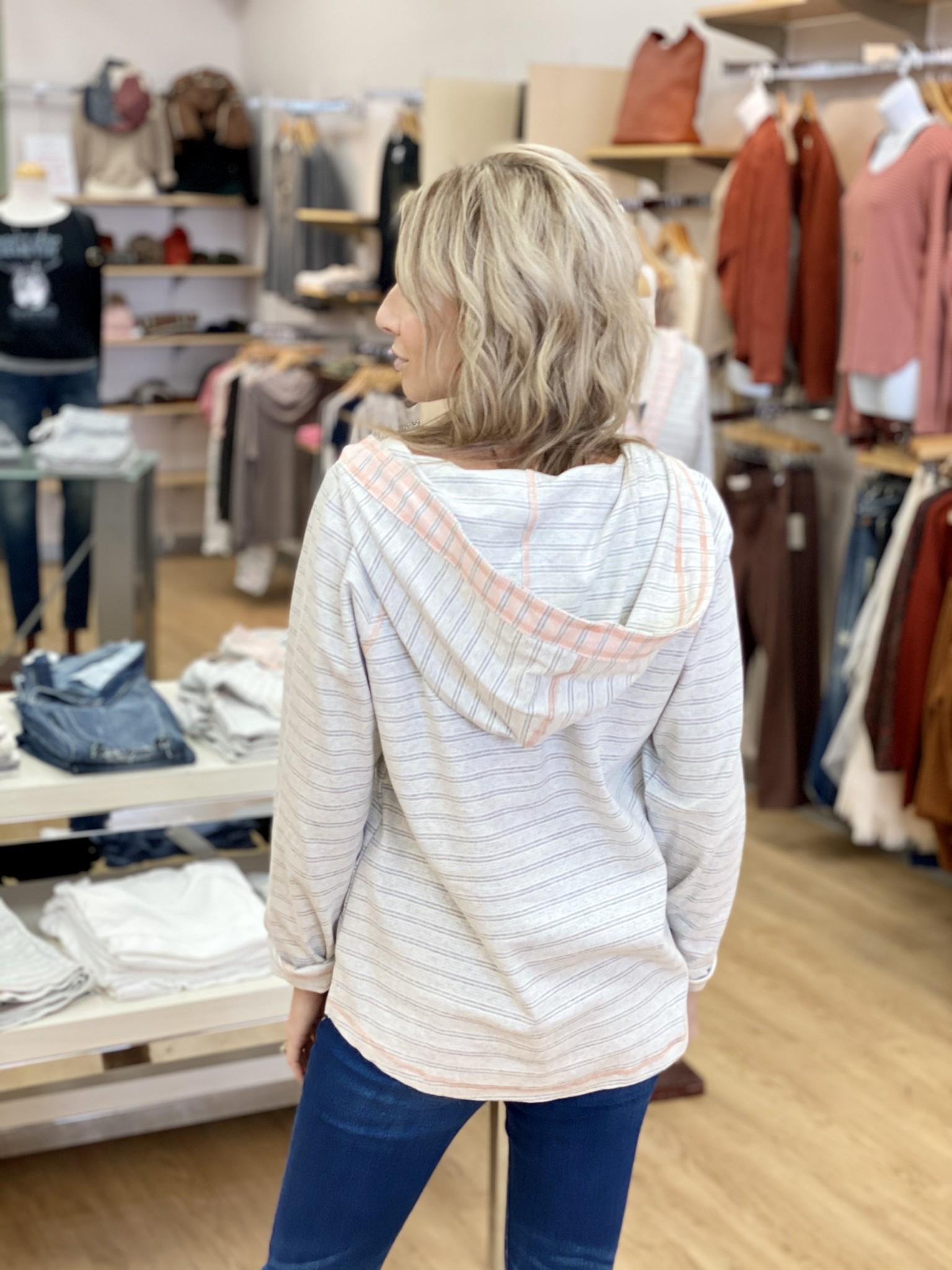 Hem & Thread Vintage Stripe Hoodie