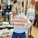 Hem & Thread Multi Color Stripe Sweater