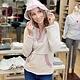 Hem & Thread Stripe colorblock hoodie in lavendar/grey