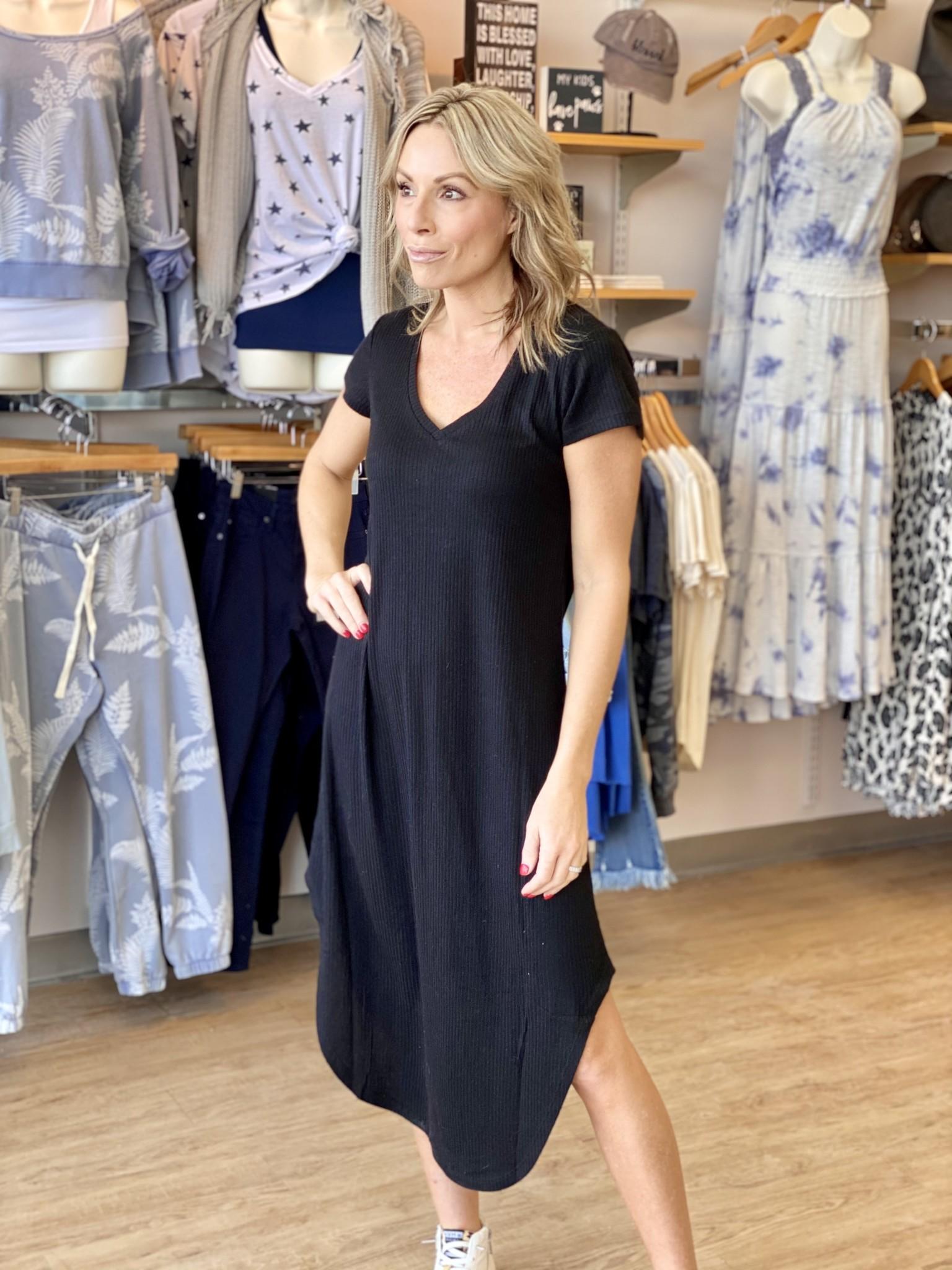 Z Supply Reverie Rib Dress Black