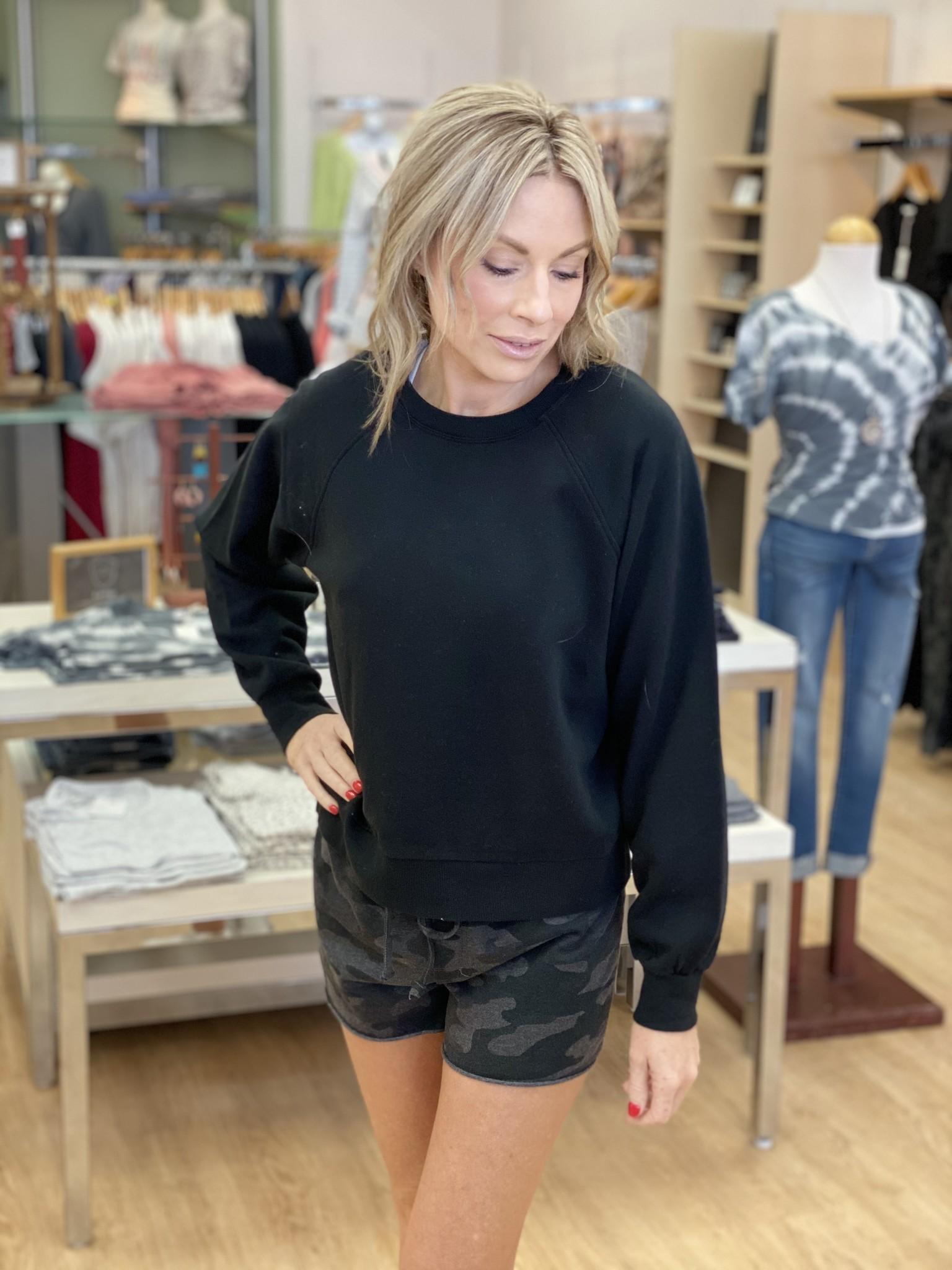 Z Supply Billie Classic Sweatshirt in Black