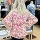 Staccato Ruffle Floral Coral Top