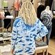 elan Blue Tie Dye Sweater