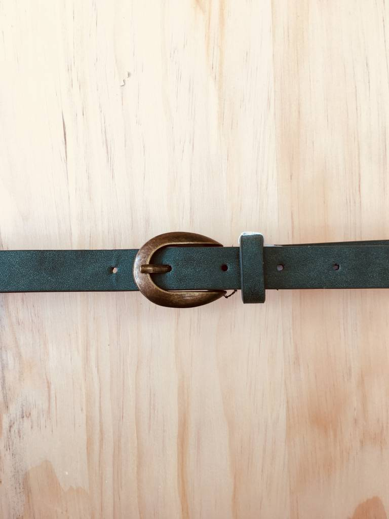 Downeast Olive Skinny Belt