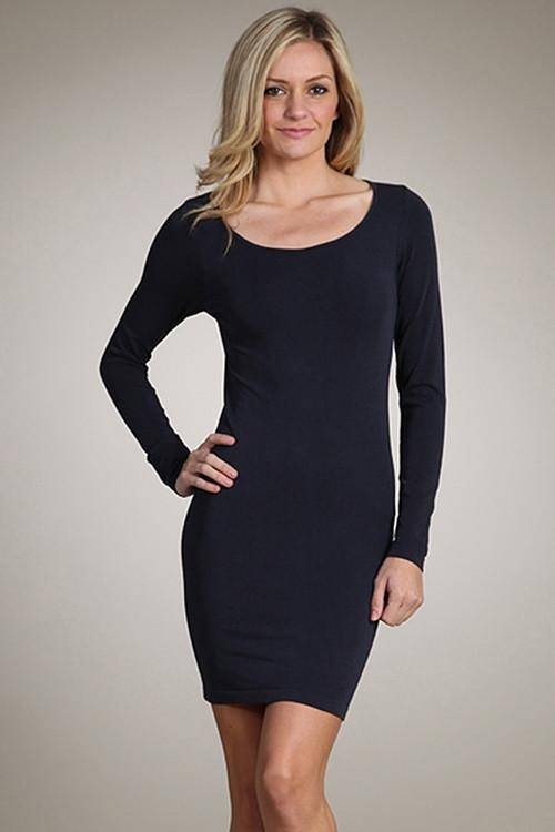 M.Rena Long Sleeve Scoop Dress
