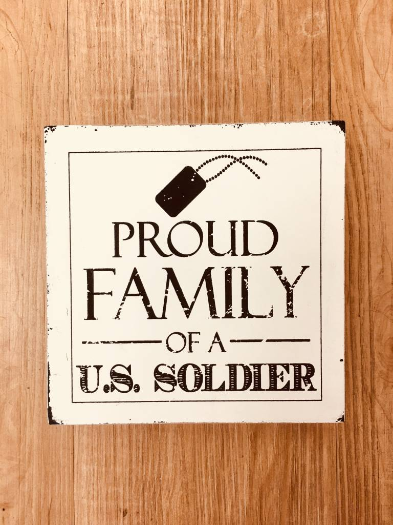 Adams Proud Family of a US Soldier