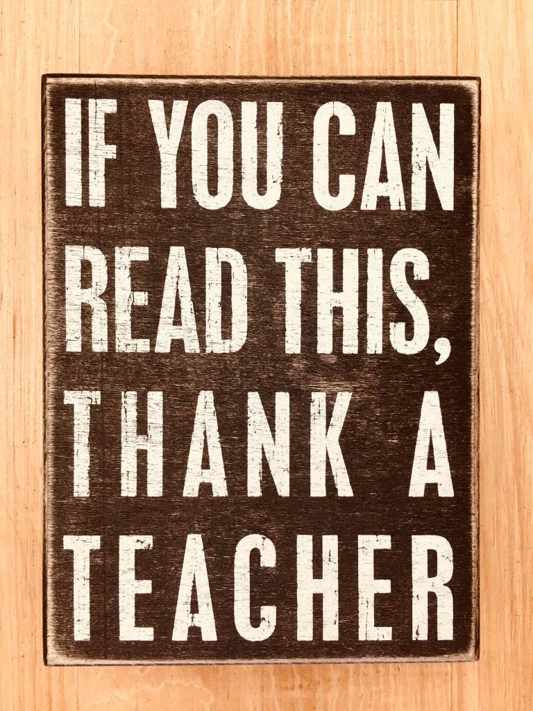 Primitives By Kathy Thank a Teacher Sign