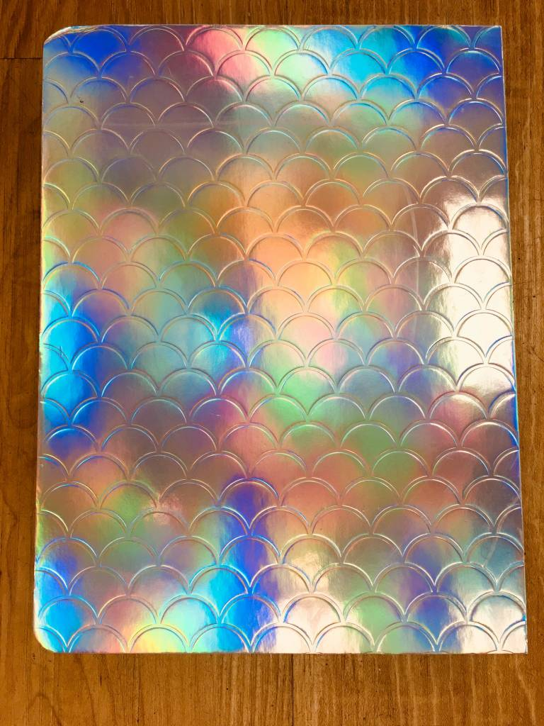Studio Oh! Mermaid Journal (Silver - Reflects in the Light)