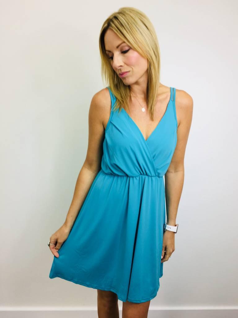 Neesha Pleated Bust Surplice Dress