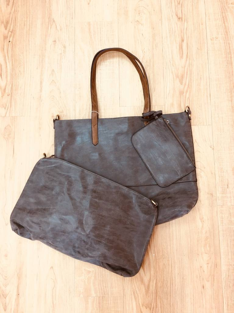 Joy Accessories 2 in 1 Tote Brushed Charcoal