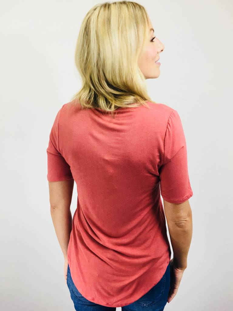 Z Supply Fae Henley Mineral Red