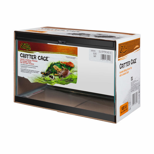 Zilla Reptile Aquarium / Terrarium with Sliding Lid