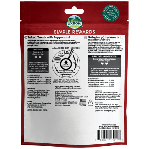 Oxbow Simple Rewards Peppermint 2oz