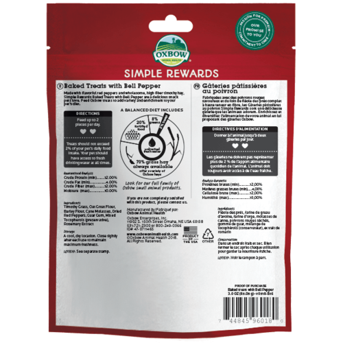 Oxbow Simple Rewards Bell Pepper 2oz