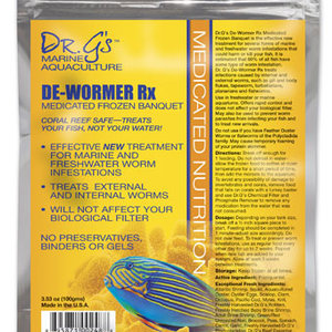 Dr. G's Marine Aquaculture Frozen De-Wormer Food