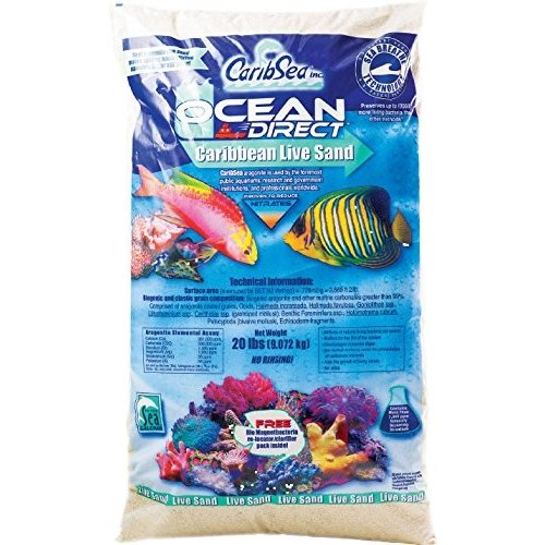 Caribsea, Inc. CaribSea Ocean Direct Natural Live Sand 40lbs