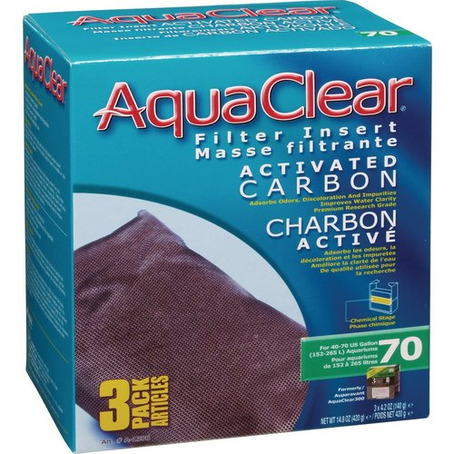 AquaClear Activated Carbon Replacement Filter Cartridge (3pk)