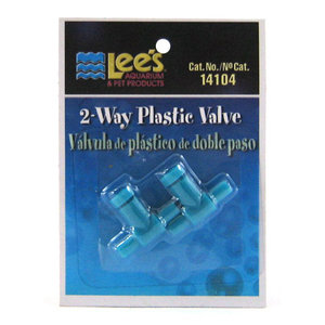 Lee's Pet Products 2-Way Plastic Valve 2pk